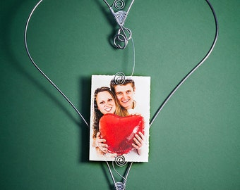 1st Year Anniversary  | Valentine's Day |  Stainless Steel Heart Frame  | Frame | Friend Gift | Best Friends | Hearts | Spouse Gift