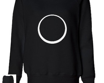 Eclipse Moon Circle Sweatshirt Black Women's