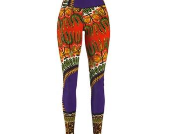 African Print Skinny Pants Sew Sport Leggings