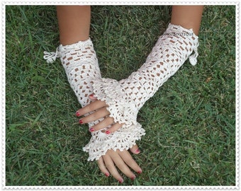 Wedding, special occasion, Crochet gloves, evening shimmery crochet gloves, Crochet mittens, Victorian Fingerless Mittens, Knit Lace Gloves