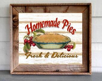 Homemade Pies Kitchen Farmhouse Decor Art Printable Digital Instant Download