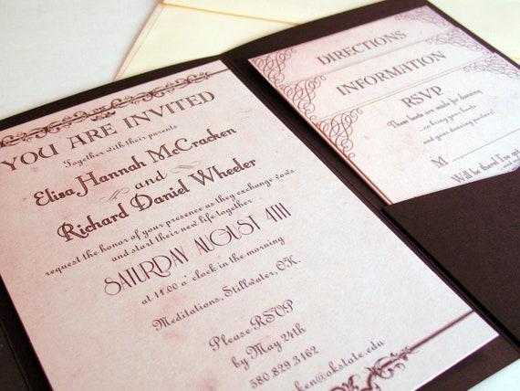 Pocketfold Wedding Invitations Wholesale: Pocket Fold Wedding Invitation Suite Pocketfold Country