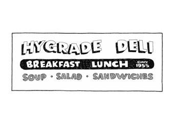 Hygrade Deli, Detroit Giclee Print 8x10