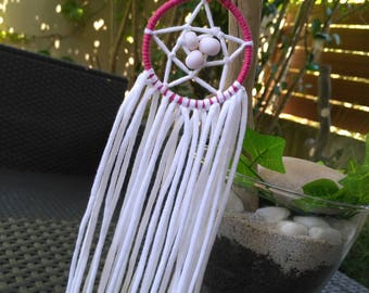 DreamCatcher or Dream Catcher white and pink