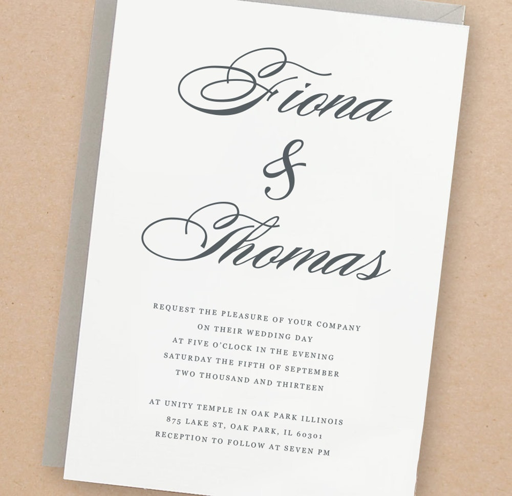 Printable Wedding Invitation Template Lucky Script Mac Or