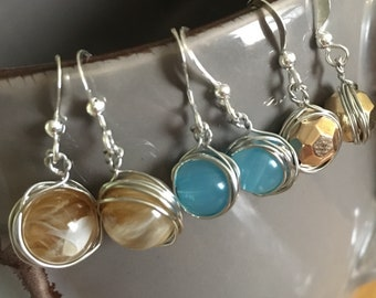 Three for the Price of Two - DEAL - Wire Wrapped Drop Earrings