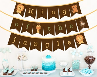 Baby Shower Bunting - 'King of the Jungle' - Jungle Safari style, Bunting/Banner