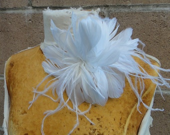 Feather flower  1 pieces listing  white    color