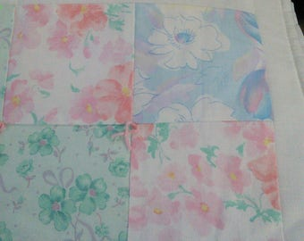 Pastel Floral Doll/Wall Hanging Quilt