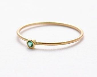 Emerald Engagement Rings: Simple & Dainty