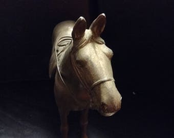 Vintage Brass horse about 8 inches tall