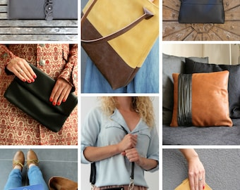 Gift Certificate 50-200 Euro, Digital gift voucher, Printable gift card, Gift Card, Handmade unique leather bags & Small leather goods
