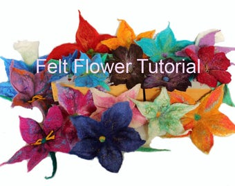 Felt Flower Tutorial. DIY PDF