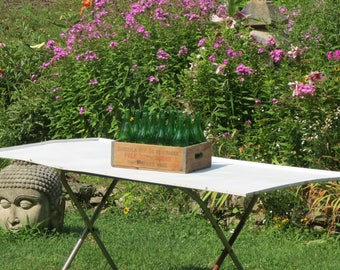 Spectacular Wooden Soda Crate Full of Vintage Green Bottles Cascella Springs Bottling Company Three Rivers Mass Amazing Barn Find