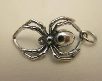 925 Sterling Silver Creepy Crawly Spider Charm, Boxed!
