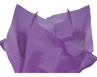 Lavender Tissue Paper, Purple Tissue Paper . 20 x 30 inches . 24 sheets