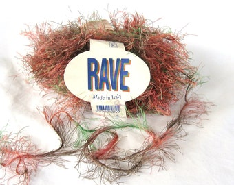 Rave 193006, eyelash, fur, novelty yarn, mine, mauve and taupe, destash