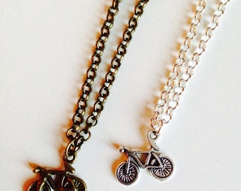 Bicycle | Bike | Cycling | Cyclist | Retro | Pretty | Necklace