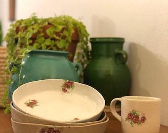 Handbuilt ceramic shallow bowl/ plate
