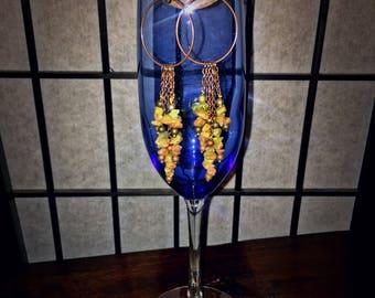 Unakite cluster earrings, earthy-chic unakite cluster chandelier gift earrings