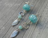 Silver, Peruvian Blue Opa...