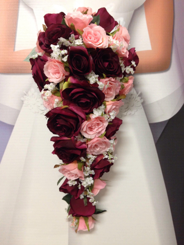 Floor Length Cascading Wedding Bouquet