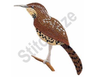 Bird - Machine Embroidery Design, Cactus Wren