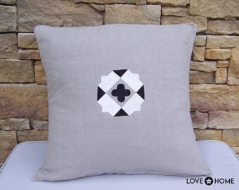 Beige linen Cushion cover
