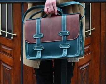 Leather Briefcase, Leather Briefcase Women, Womens Leather Briefcase, Leather Satchel, Womens Laptop bag, Womens Business bag, 13 Laptop bag