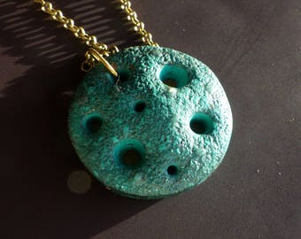 Pendant Moon necklace/blue blue moon/jewel blue moon/Blue Moon jewelry