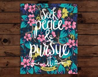 Psalm 34:14 Print