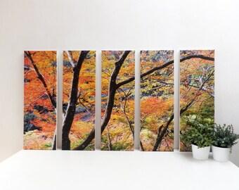 5 set canvas art size 60 x 100 cm (overall size)