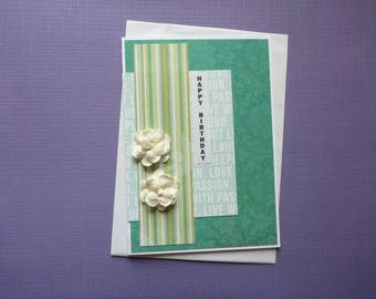 Modern Turquoise Birthday Card  FREE SHIPPING