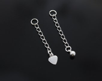 Sterling silver cable chain One or two inches extender.