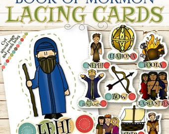 Lacing Cards Book of Mormon - INSTANT DOWNLOAD