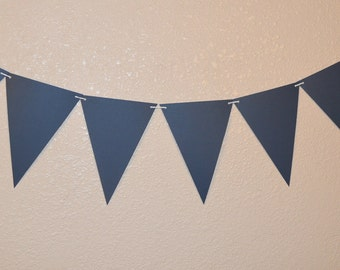 Banner, Bunting, Flags, Party Decor,Navy