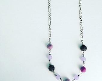 Newport Felt Necklace in Lavender Fog