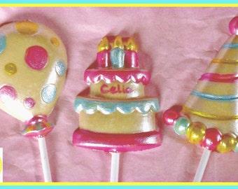 Kids Birthday Chocolate Lollipops/Child Birthday Gift/Lollies/Personalised/Birthday Party Favours/Girls/Boys/Children/Son/Daughter/Friend
