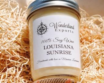 Louisiana Sunrise Soy Candle - Louisiana - Sunrise - Fragrant Candle - Home - Sun