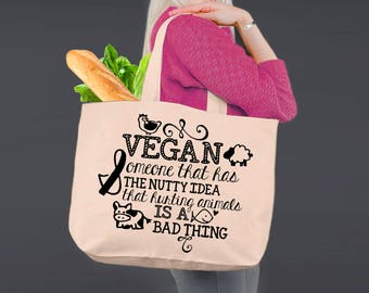 Vegan Definition | Vegan Gift | Vegan Tote | Tote Bag | Canvas Tote Bag | Canvas Tote | Shopping Tote | Shopping Bag | Korena Loves