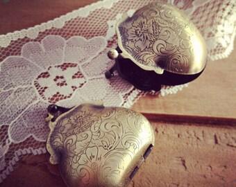 1 Pc Coin Purse Locket Antique Bronze Picture Locket Purse Vintage Style Pendant  Jewelry Supplies (BC048)