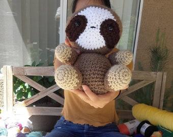 Sloth Amigurumi, Crochet Plush