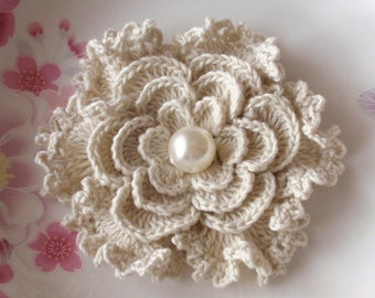 Larger Crochet Flower in 3.5 inches YH-088-03