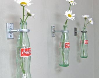 3 Coca-Cola Bottle Hanging Flower Vases - Coke Decor - Gift for Women - Vintage Kitchen -  50's Decor - Mother's Day Gift Gift for Mom