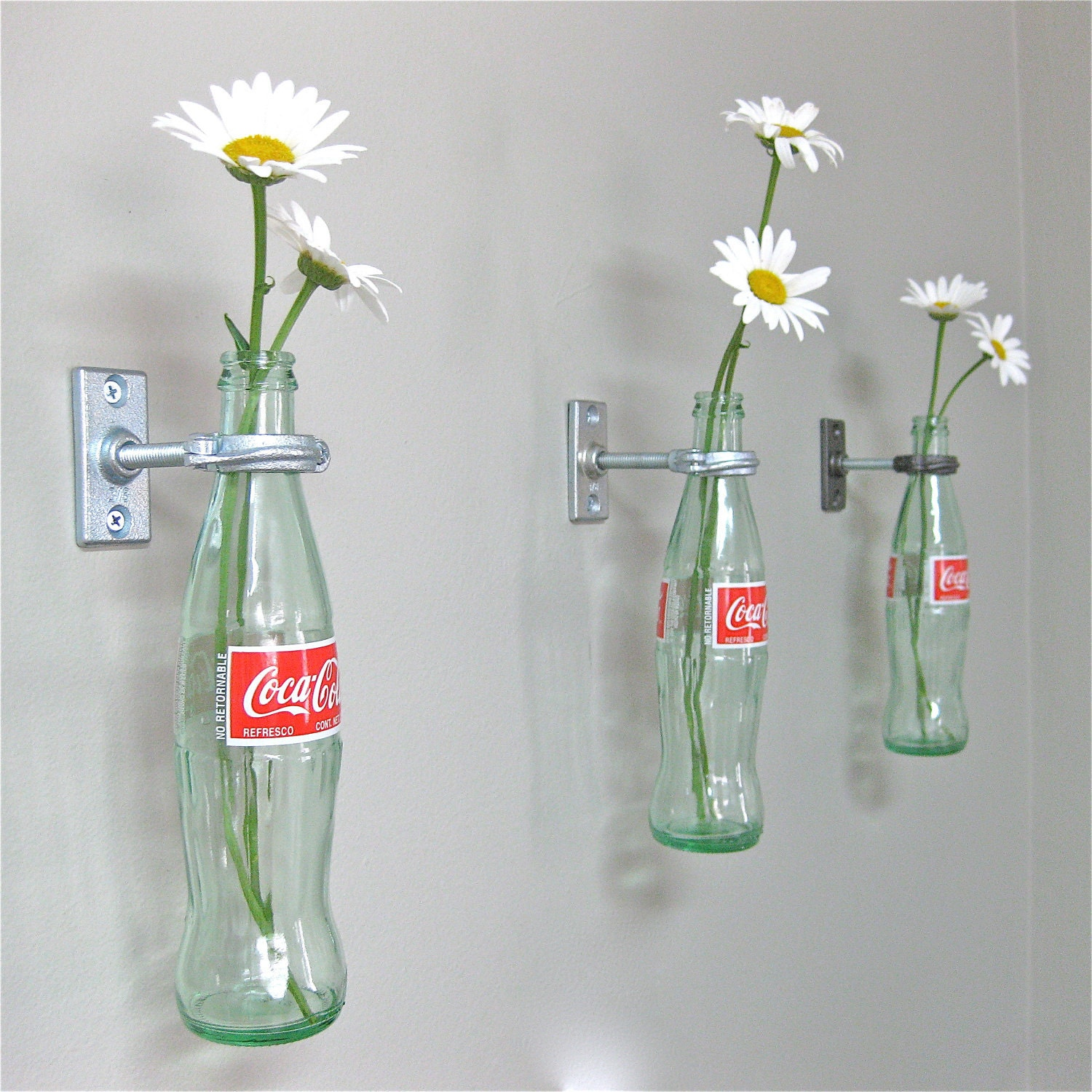 2 coca cola bottle hanging flower vases mothers day gift zoom reviewsmspy