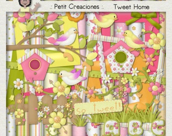 "KIT SCRAPBOOKING DIGITAL ""Tweet Home"""