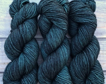 Journey Worsted by Skeinny Dipping in colorway Midnight Oil