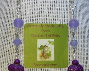 turtle earrings -purple