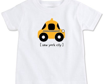 New York City NYC Checkered Taxi Cab Toddler Tee