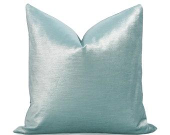 Glisten Velvet Pillow Cover - Sky Blue - Light Blue Pillow - Baby Blue Pillow - Velvet Pillow - Decorative Pillow - Designer Pillow - Blue